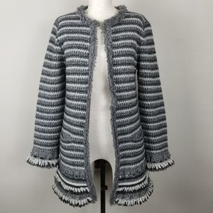 Nanette Lepore Knitted Striped Cardigan Sweater.